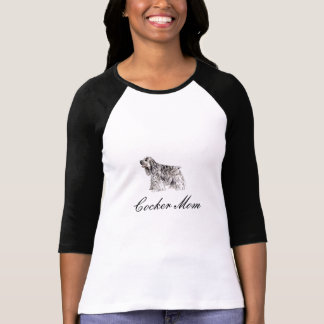 Maman de cocker, T-shirt américain de cocker
