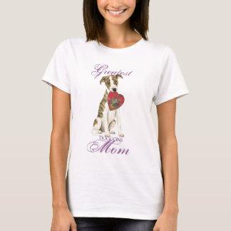 Maman de coeur de whippet t-shirt