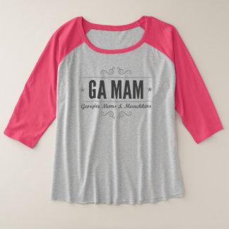 MAMAN de GA plus le T-shirt de raglan de taille