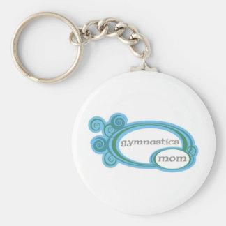 Maman de gymnastique porte-clés