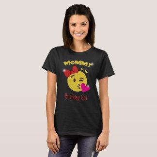 Maman de la fête d'anniversaire d'Emoji de fille T-shirt