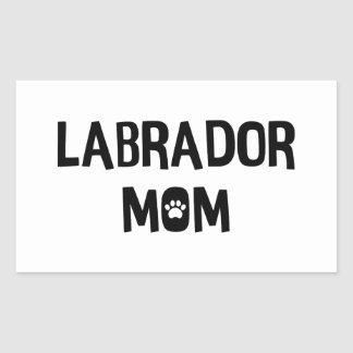 Maman de Labrador Sticker Rectangulaire