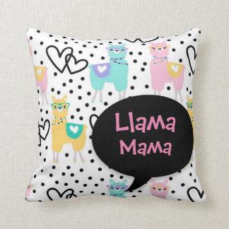 Maman de lama, coussin mignon, le jour de mère,