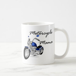 Maman de moto mug blanc