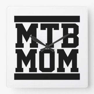 Maman de MTB Horloge Carrée