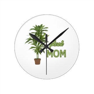 Maman de plante horloge ronde