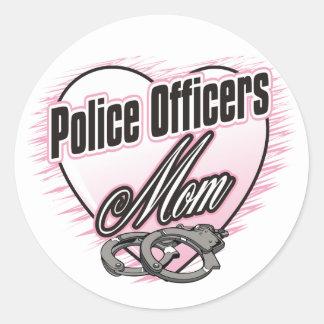 Maman de policiers sticker rond