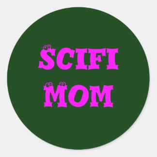 Maman de Scifi Adhésif Rond