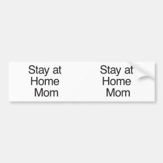 Maman de séjour à la maison autocollants pour voiture
