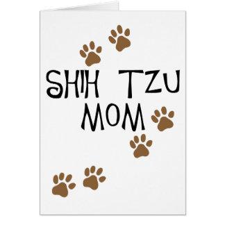 Maman de Shih Tzu Carte De Vœux