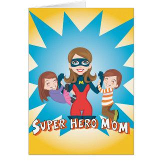 Maman de superhéros cartes de vœux