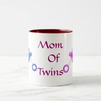 Maman de tasse de café de jumeaux (garçon, fille)
