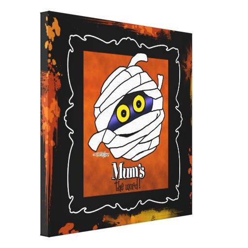 Maman - décoration de Halloween Toile Tendue Sur Châssis
