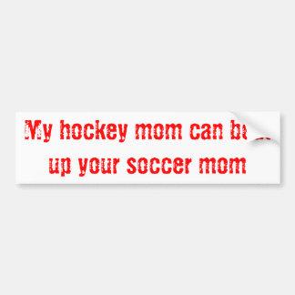 Maman d'hockey autocollant pour voiture
