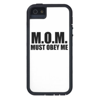 MAMAN : Doit m'obéir iPhone 5 Case