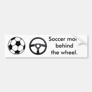Maman du football autocollant pour voiture
