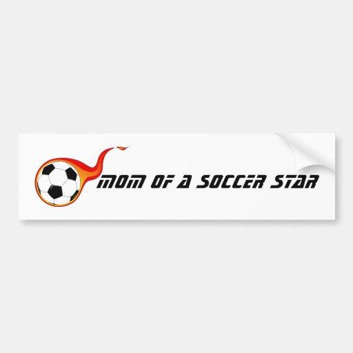 maman d'une étoile du football adhésif pour voiture