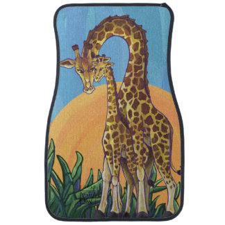Maman et bébé de girafe tapis de voiture