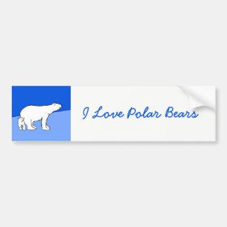 Maman et CUB d'ours blanc Autocollant De Voiture