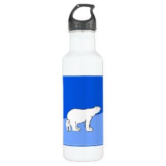 Maman et CUB d'ours blanc Bouteille D'eau En Acier Inoxydable
