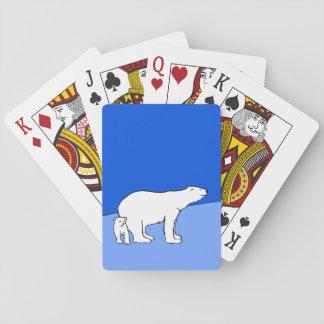 Maman et CUB d'ours blanc Cartes À Jouer