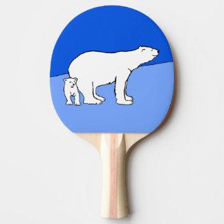 Maman et CUB d'ours blanc Raquette De Ping Pong
