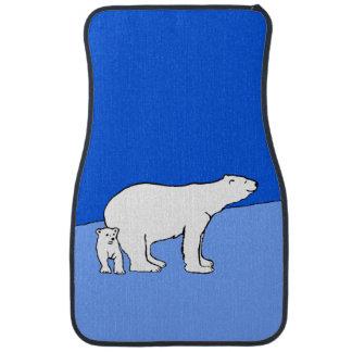 Maman et CUB d'ours blanc Tapis De Voiture