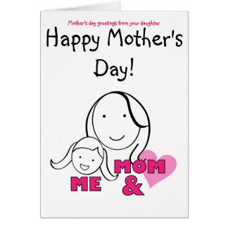 MAMAN et MOI - salutations du jour de mère de Cartes