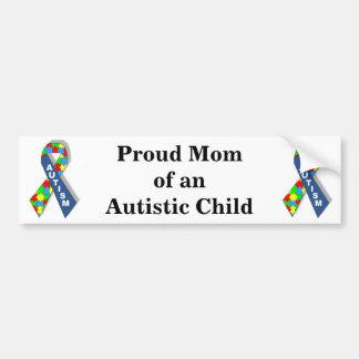 Maman fière d'un enfant autiste autocollant pour voiture