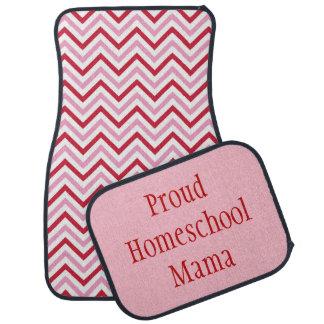 Maman fière Pink et Chevron rouge de Homeschool Tapis De Sol