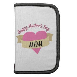 Maman heureuse de jour de mères agenda