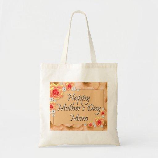 Maman heureuse du jour de mère sacs fourre-tout