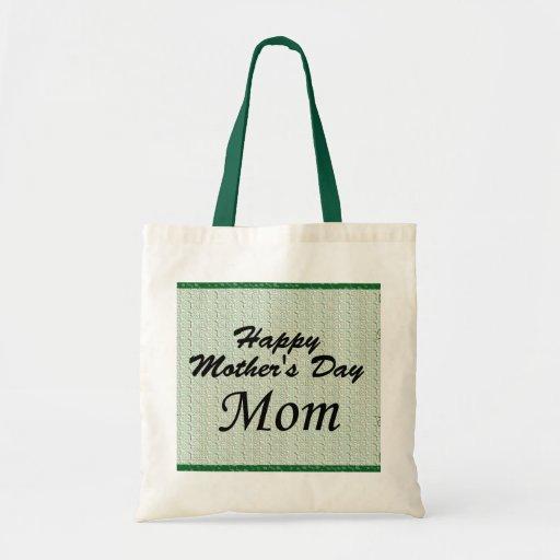 Maman heureuse du jour de mère sacs