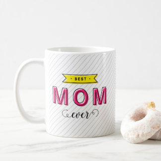 Maman jaune rose colorée d'amusement moderne mug