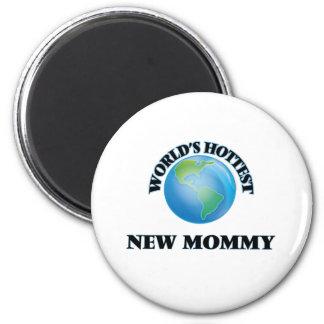Maman la plus chaude du monde la nouvelle magnets pour réfrigérateur