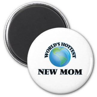 Maman la plus chaude du monde la nouvelle aimant pour réfrigérateur