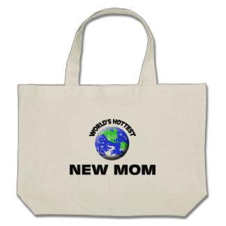Maman la plus chaude du monde la nouvelle sac en toile