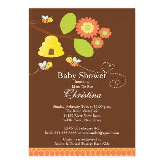 Maman moderne à l invitation de baby shower d abei