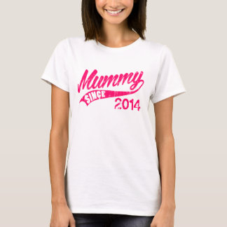 Maman personnalisée depuis l'année t-shirt