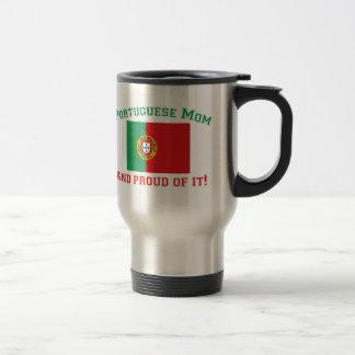 Maman portugaise fière mug de voyage