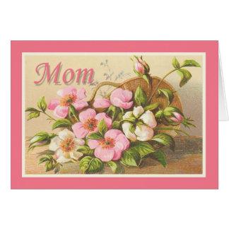Maman vintage mignonne florale cartes