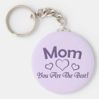 Maman vous êtes le meilleur ! porte-clé rond