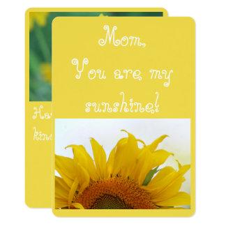 Maman, vous êtes mon soleil ! carton d'invitation  12,7 cm x 17,78 cm