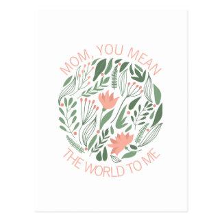 Maman vous voulez dire le monde à moi la carte