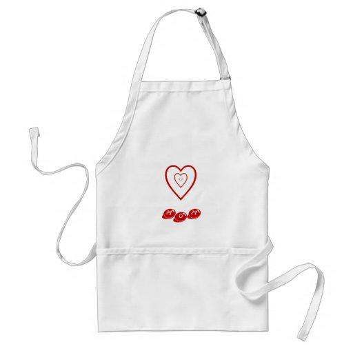 Maman w/hearts, tablier