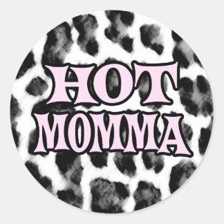 Mamans chaudes autocollants ronds