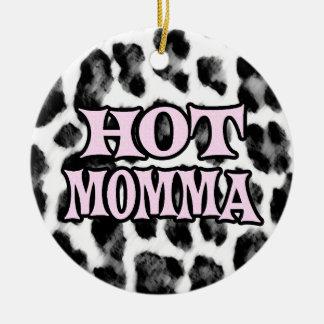 Mamans chaudes ornement rond en céramique