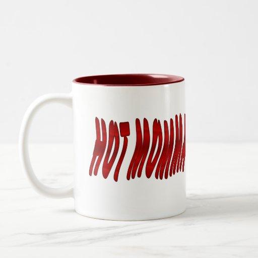 mamans chaudes tasse à café