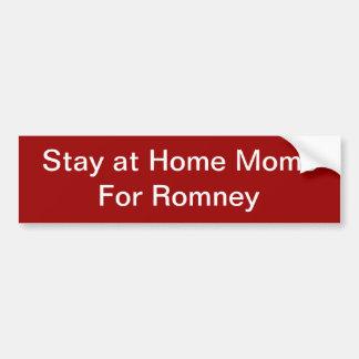 Mamans de séjour à la maison pour Romney Autocollants Pour Voiture