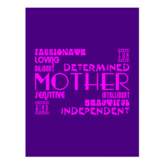 Mamans féminines modernes et mères chics et élégan carte postale